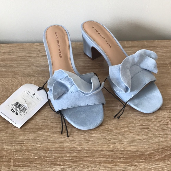 0091c93df NWT Who What Wear Baby Blue Zadie Heeled Sandals